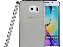 Husa silicon ultra thin samsung s6 edge clear grey