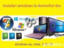 Reparatii,configurari,instalari windows la domiciliu