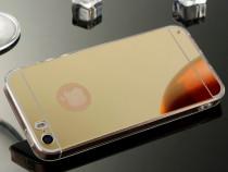 Iphone 5 5s 5se - husa ultra slim 0.3mm silicon oglinda gold