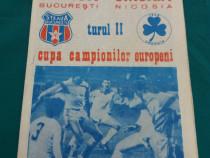 Program fotbal - meciul steaua-omonia nicosia - turul ii al