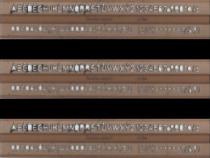 Şablon litere 7 mm Logarex