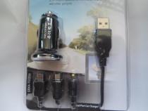 Incarcator auto,pt. telefon,tableta,miniUSB,microUSB, Nokia