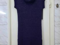 Rochie tunica pulover mov marimea L - Noua