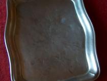 Tavă alpaca vintage, cu marcaj