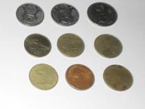 Lot 9 monede 5 fotinți din anii 1971 - 2012