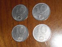 Lot 4 monede 10 forinți Ungaria 1972