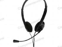 Casca audio cu microfon, jack 3,5mm, Quer - 401038