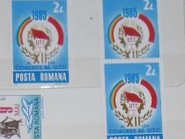 "2 serii timbre ""Congresul al XII-lea al UTC"" - 1985"