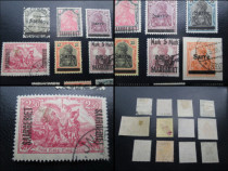 Set 12 Timbre vechi Germania Reich-Sarre originale 1930-40.