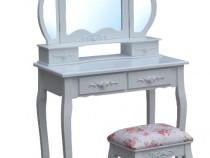 SEA209 - Set masa toaleta Alba oglinda tripla, scaun,