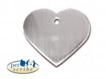 Medalion Inima Mare Pet Scribe Inox mat 7322-20