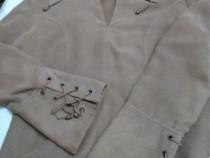 "Bluza masura 42(M)-material tip ""piele caprioara"""