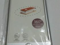 Husa iPhone iPhone 7 Plus argintie- fata -spate +protectie