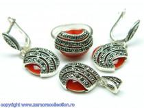 Set bijuterii argint rodiat Model ST111332