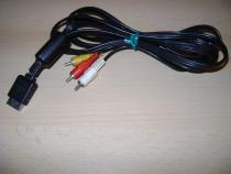 Cablu Tv original Sony ps1, ps2, ps3 AV 3xRCA