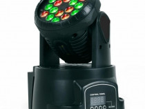 Moving Head 18 LED-uri de 3W RGB
