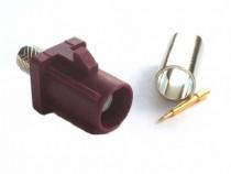 Conector FAKRA 4004, GSM, tata, sertizare RG174