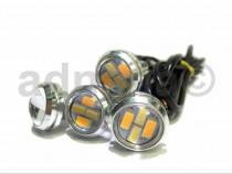 Proiectoare lumini de zi DRL LED cu semnalizare EAGLE EYE