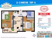 Apartament 2 camere, Balcon, etaj 1, lift, Luica Stradal