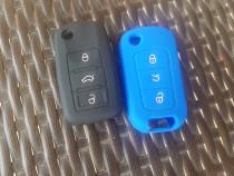 Husa cheie 3 butoane VW Polo,Golf 5,6,Passat CC,Touran