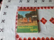 Calendar german Kalender Neuer Weg din 1976 Bucuresti