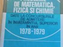 Probleme de matematica, fizica si chimie date la concursuri