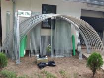 Solar metalic pentru legume si flori 28 m lungime /4 m desch