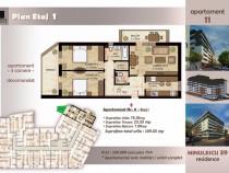Apartament 3 camere , etaj 1, Timpuri Noi, 109 mp