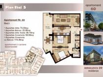 Apartament SUPERB 3 camere, 98 mp, Timpuri Noi, et 5/6