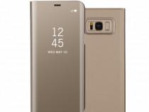 Flip case activ oglinda gold blue black - samsung s8, s8 +