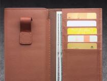 Husa saculet portofel piele qialino iphone 7 plus, 6 plus