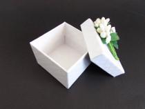 Marturie nunta sau botez - cutiuta cu flori