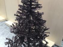 Brad artificial negru 180cm + suport