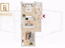 Apartament nou 2 camere - central - palas