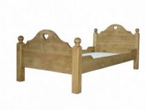 Pat rustic lemn masiv 90x190
