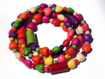 Bratara/Colier din Howlite colorat inima – BR183