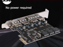 Adaptor PCI-e 1X --> 4 porturi USB 3.0 - v2020
