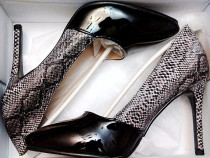 Pantofi Pietricele Sandale Platforme Stiletto Lac 36