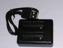 Incarcator dual baterie AHDBT-401 GoPro Hero 4