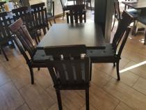 Mese cu scaune de lemn