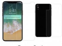 Iphone X 10 - Folie Din Plastic Fata Spate Clara, Transparen
