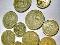 7837-Set 9 Monede marci Germania moderna+2 DDR-Austria.