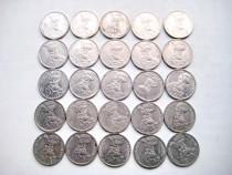 7843-Set 25 monede 100 lei Monede Mihai Viteazu Romania 1994