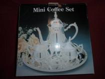 Serviciu cafea,ceai,din metal placat cu argint 4 piese