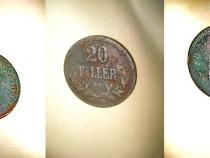 20Filler 1897 KB bronz moneda maghiara Imperiul Austro-Ungar