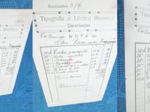 Act vechi datat- Caransebes: 03 11 1917. Marime-23_13cm.