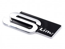 Emblema Audi S-Line Crom Negru