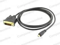 Cablu micro HDMI - DVI-D Dual Link, 1,8m - 171475