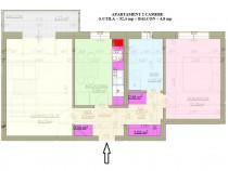 Apartament 2 camere conf 1 cu pod 52+5 mp utili la alb