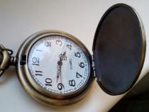 Ceas de buzunar, nou, perfect funcțional, cu baterie